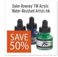 Daler-Rowney FW Acrylic Water Resistant Artists Ink