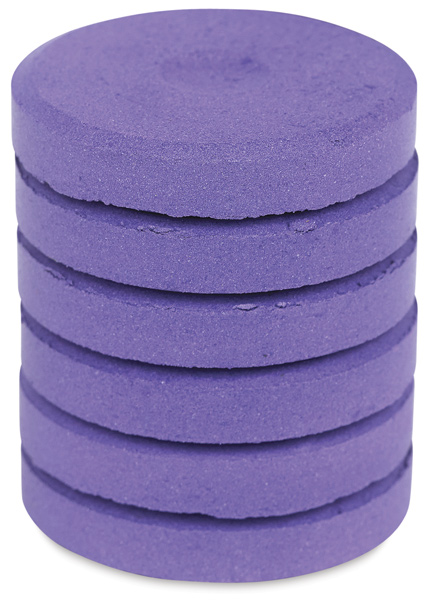 Tempera Mini Cakes, Orchid Metallic, Pkg of 6