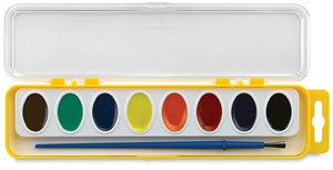 Washable Watercolors, Set of 8 w/ Brush