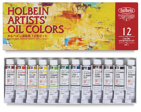 Set of 12 Colors, in 10 ml Tubes