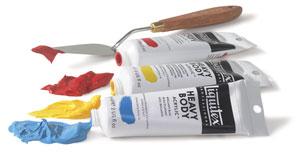 artist s supplies for painting in acrylics an explanation of the