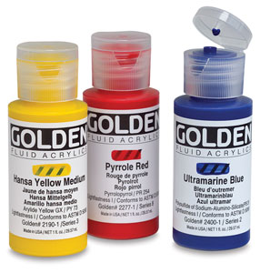 Golden Fluid Acrylics, 1 oz