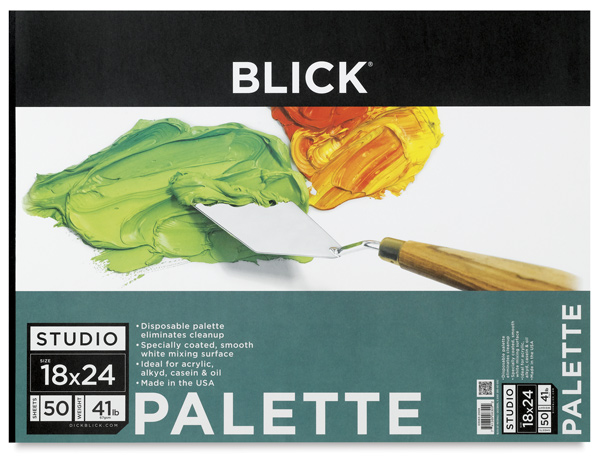 "Disposable Palette Paper Pad, 50 Sheets, 18"""" × 24"""""