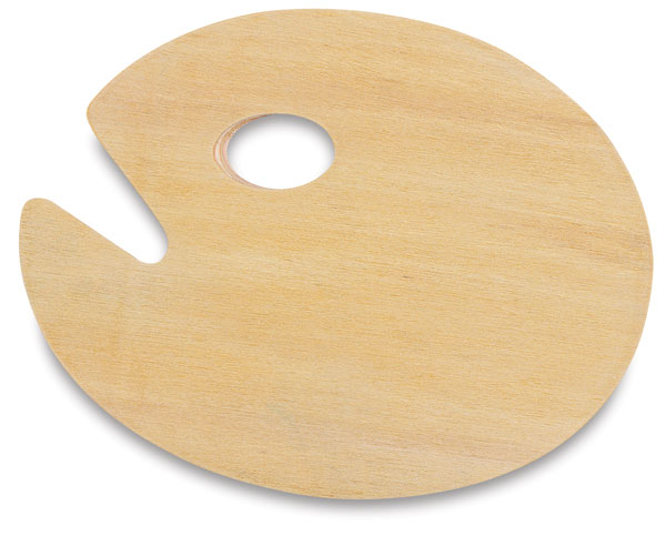 Wooden Palette, Oval