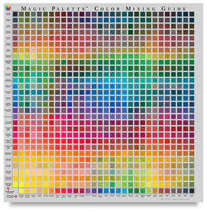 Magic Palette Artist's Color Selector and Mixing Guide