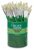 Economy White Bristle, Flat, Canister Of 144