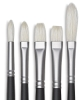 Artists' Oil Brushes, Set of 5