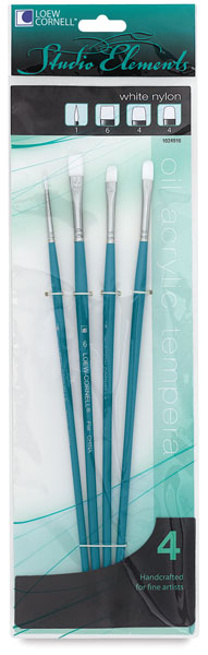 White Taklon Mixed Set 2, Set of 4