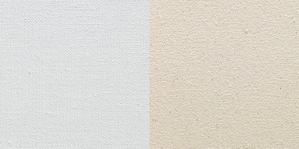 Oil-Primed Linen (Left) and Raw Linen (Right) Surfaces