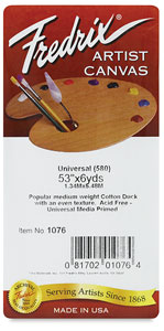 Style 580 Universal Acrylic Primed Cotton Canvas Roll