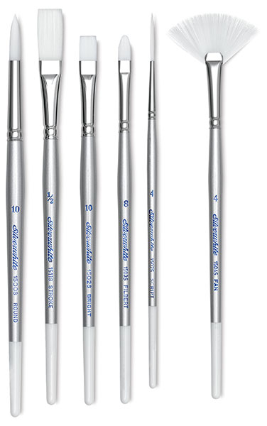 Silverwhite Soft Synthetic Brushes