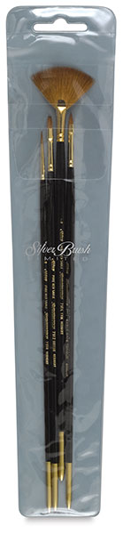 Renaissance Red Sable Oil/Acrylic Brushes, Set of 4