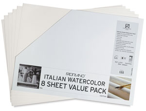 Fabriano Italian Watercolor Paper Value Pack
