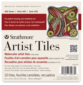 "400 Series Watercolor Artist Tiles, 6"" x 6"", Pkg of 10 Tiles"
