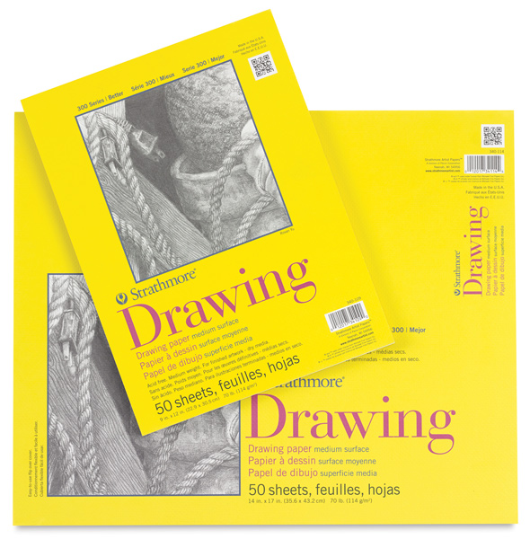 Strathmore 300 Series Drawing Pads, Glue Bound