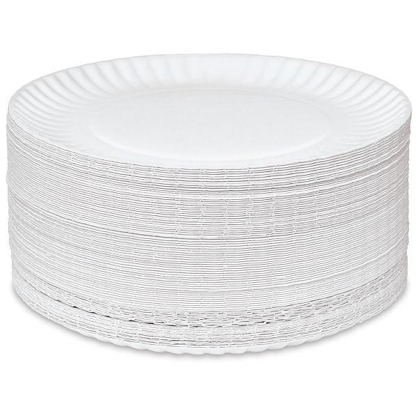 Uncoated Paper Plates, Package of 250