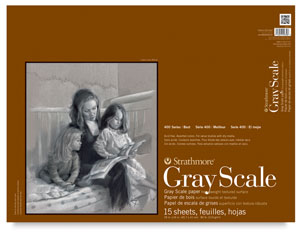 """Gray Scale Pad, 15 Sheets18"""" × 24"""""""