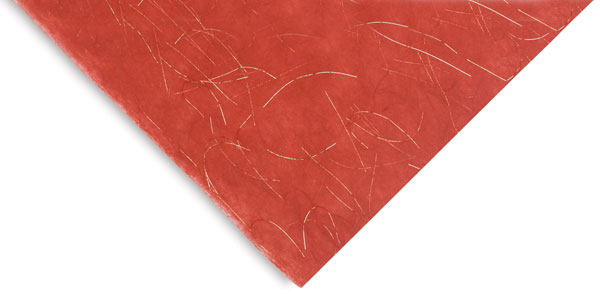Red with Gold Thread