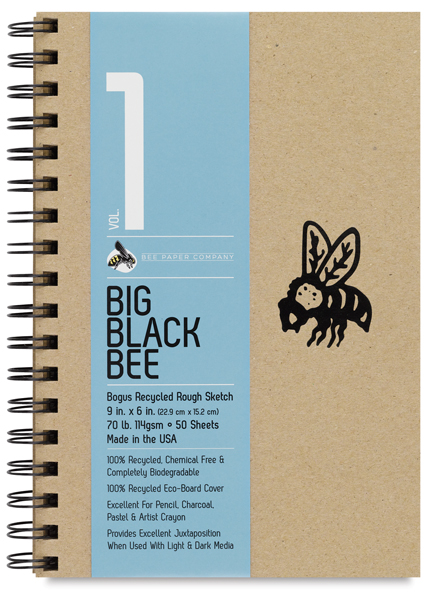 """Bogus Recycled Rough Sketchbooks, 50 sheets, 9"""" x 6"""""""