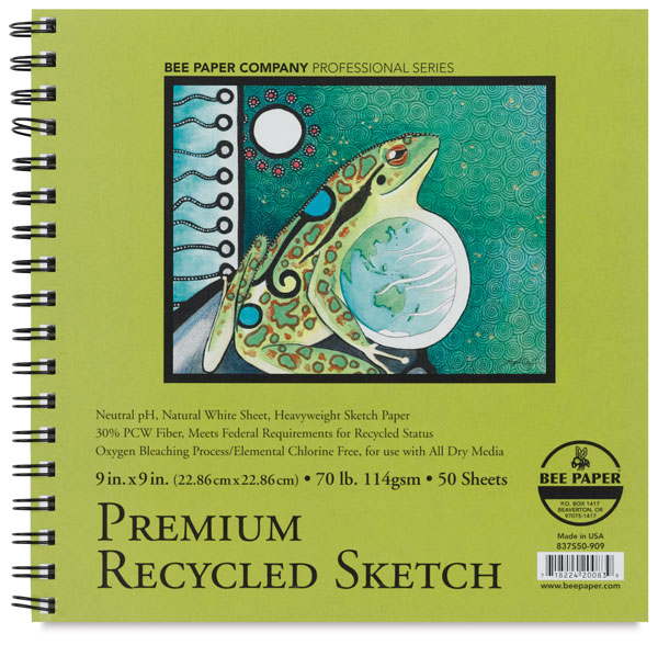 Premium Recycled Sketch Pad, 50 Sheets