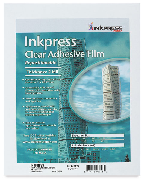 Adhesive Clear Film, Pkg of 20