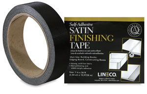 Satin Cloth Tape, Black