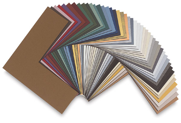 Black Core Matboard Corners, 46 Colors