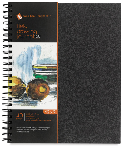 "Field Drawing Journal, 40 Sheets, 9"""" × 12"""""