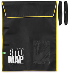 "BIYOMAP Art Protection Case, 27"""" x 35"""" w/ Yellow Border"