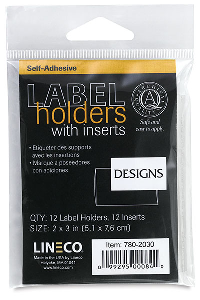 Lineco Label Holders, Pack of 12