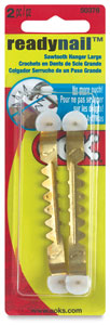 Large ReadyNail Sawtooth Hangers, Pkg of 2