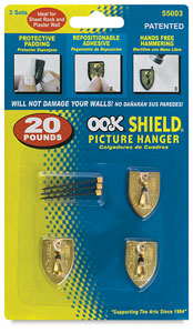 Repositioning Shield Hangers Set of 3