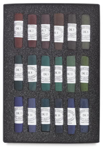 Set of 18, Dark Colors
