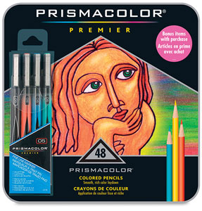 Tin Box Set of 48 with FREE Set of 4 Illustration Markers