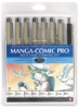 Manga Comic Pro Set, 8 Pieces