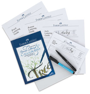faber-castell getting started brush lettering and calligraphy set, dick blick - art materials