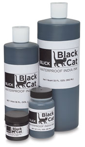 Blick Black Cat Waterproof India Ink