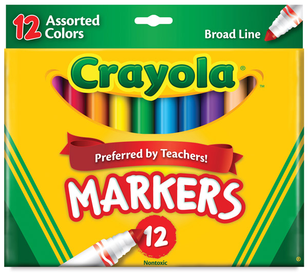 Assorted Colors, Set of 12 Markers