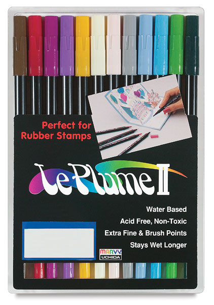 Set of 12 Markers, Basic Colors