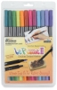Set of 12 Markers, Bright Colors