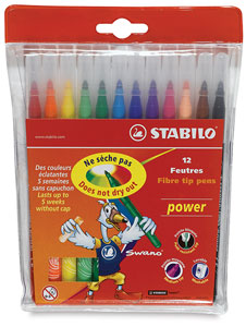 Power Markers, Wallet of 12 Colors