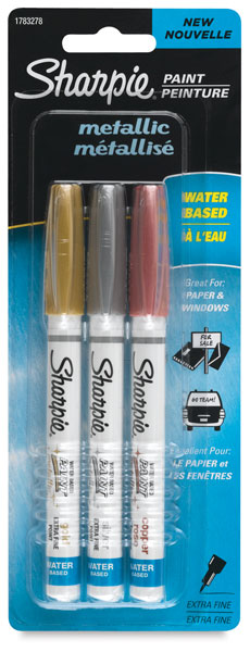 Set of 3, Metallic Colors, Extra-Fine Point