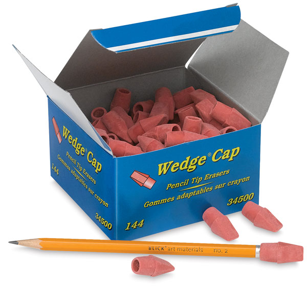 Pink Pencil Top Erasers, Box of 144