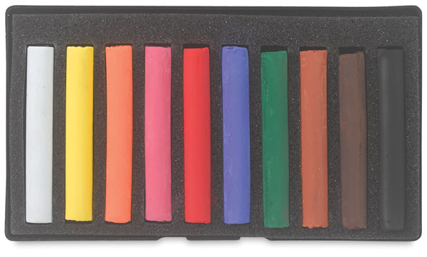 Set of 10 Pastels, Assorted Colors