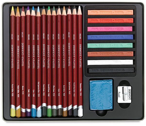 Pastel Pencil Collection, 24-Piece Set