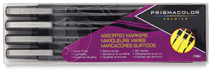 Mixed Tip Markers, Set of 4 Black
