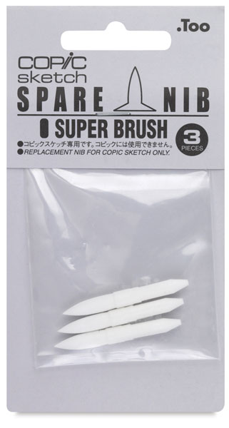 Sketch and Ciao Replacement Nibs, Set of 3, Super Brush