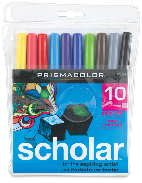 Brush Tip Markers, Set of 10