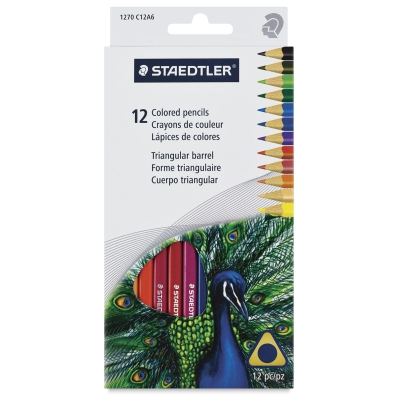 Triangular Colored Pencils, Set of 12