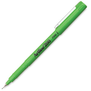 Artline 200 Writing Pen, Yellow Green